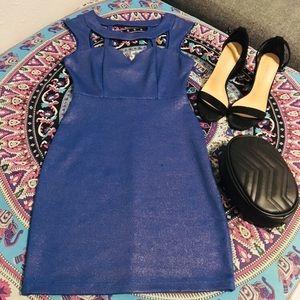 Akira Sparkly Blue Dress